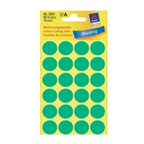 Avery Marking Labels, Dot 18mm Green, 96/pack