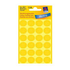 Avery Marking Labels, Dot 18mm Yellow, 96/pack