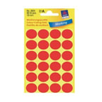 Avery Marking Labels, Dot 18mm Red, 96/pack