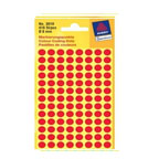 Avery Marking Labels, Dot 8mm Red, 416/pack