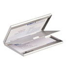 Durable Aluminum Business Case Duo, Mettalic Silver